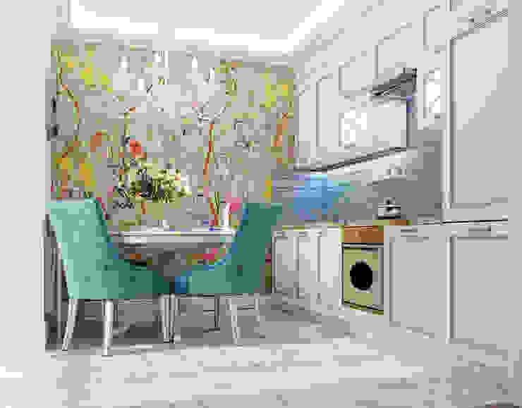 Vera Rybchenko Mediterranean style kitchen Blue