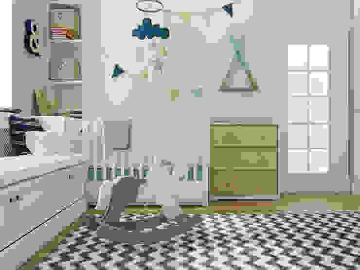Vera Rybchenko Scandinavian style nursery/kids room Grey