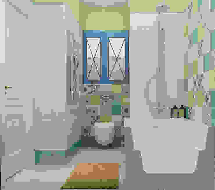 Vera Rybchenko Mediterranean style bathroom Ceramic Yellow