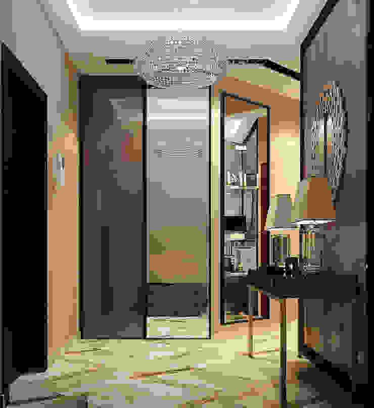 Vera Rybchenko Modern corridor, hallway & stairs Beige