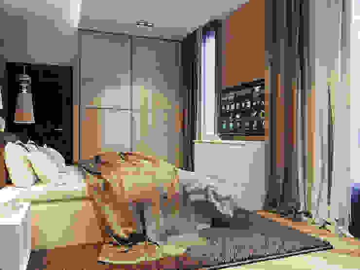 Vera Rybchenko Modern style bedroom Beige