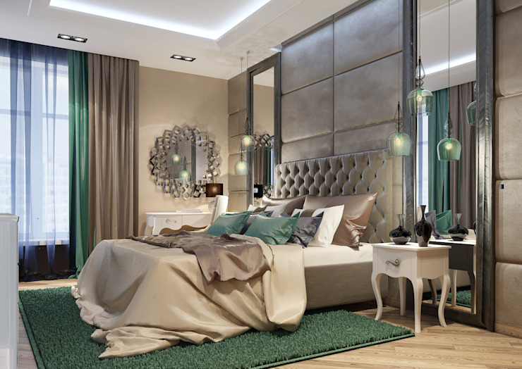 Vera Rybchenko Modern style bedroom Green