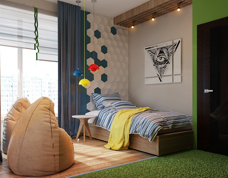 Vera Rybchenko Modern nursery/kids room Green