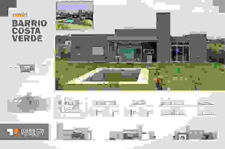 Casa estilo country Casas modernas de TORRETTA KESSLER Arquitectos Moderno Ladrillos