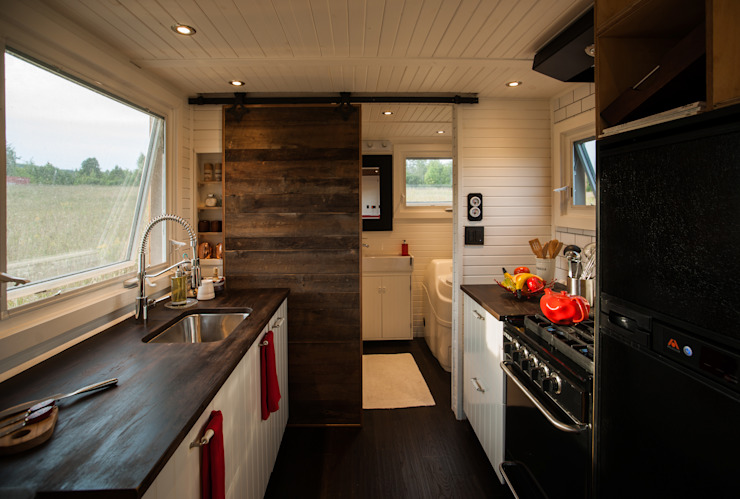 Greenmoxie Tiny House:  Kitchen by Greenmoxie Magazine