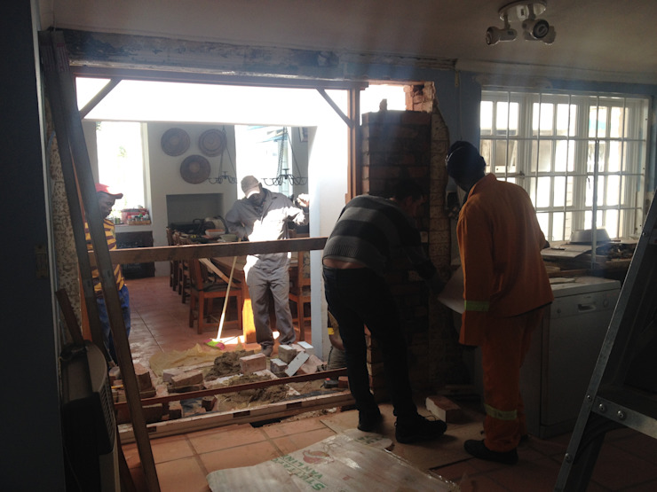 During: Structural overhaul. by Boss Custom Kitchens (PTY)LTD