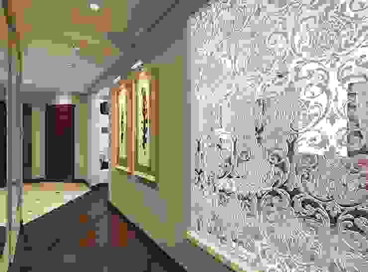 Modern Koridor, Hol & Merdivenler Студия интерьера Дениса Серова Modern