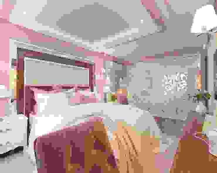 Дизайн спальни 15 кв м в классическом стиле Спальня в классическом стиле от Студия интерьера Дениса Серова Классический