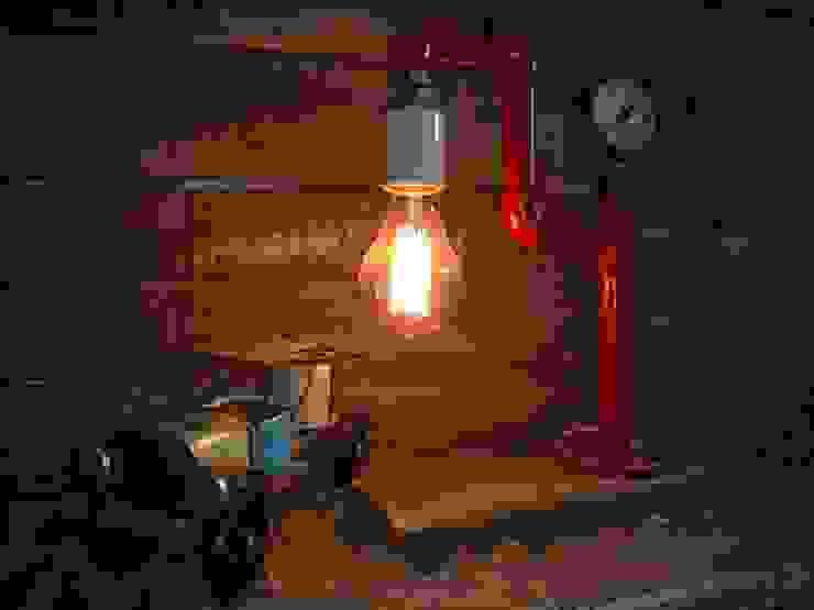 صناعي  تنفيذ Lamparas Vintage Vieja Eddie, صناعي الحديد / الصلب