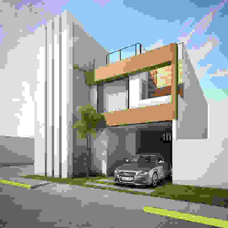 Fachada Casas modernas de MARINES STUDIO Moderno