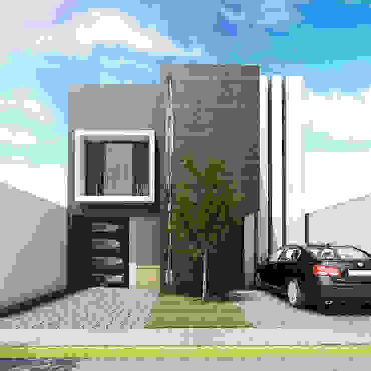 Fachada frontal Casas modernas de MARINES STUDIO Moderno