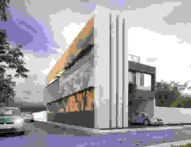 Fachada lateral Casas modernas de MARINES STUDIO Moderno