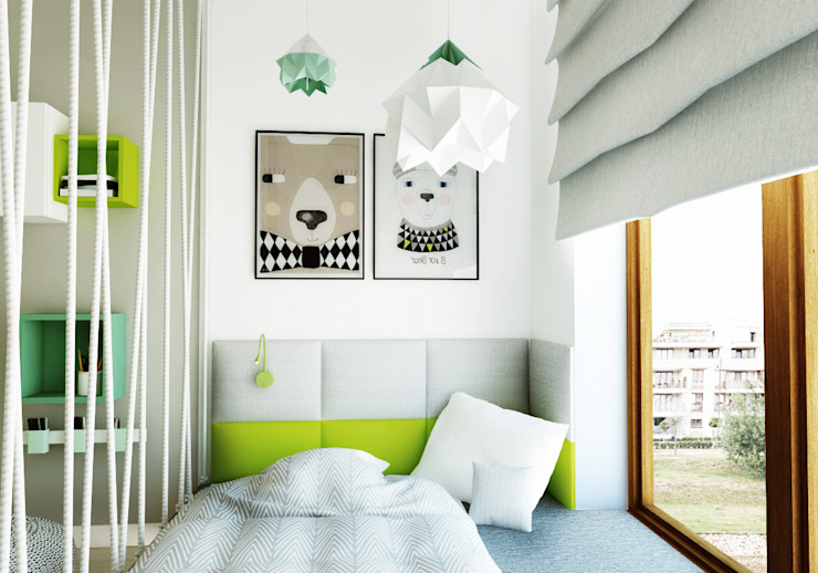Moderne kinderkamers van living box Modern