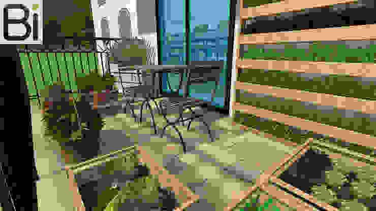 Orto in balcone PROGETTO Bi Balcone, Veranda & Terrazza in stile moderno