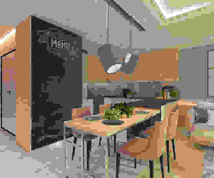 Modern dining room by living box Modern