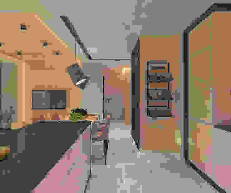 Modern kitchen by living box Modern