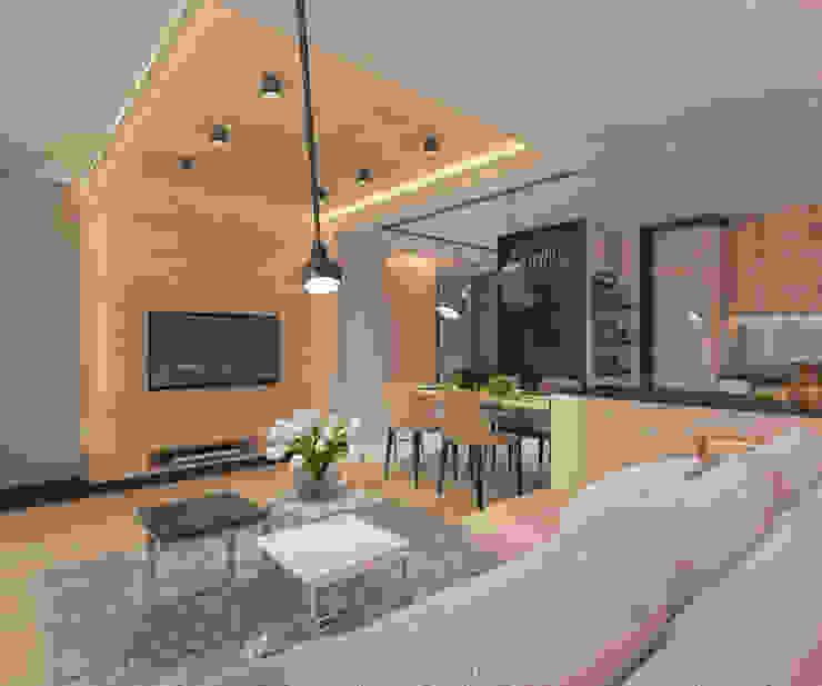 Modern living room by living box Modern