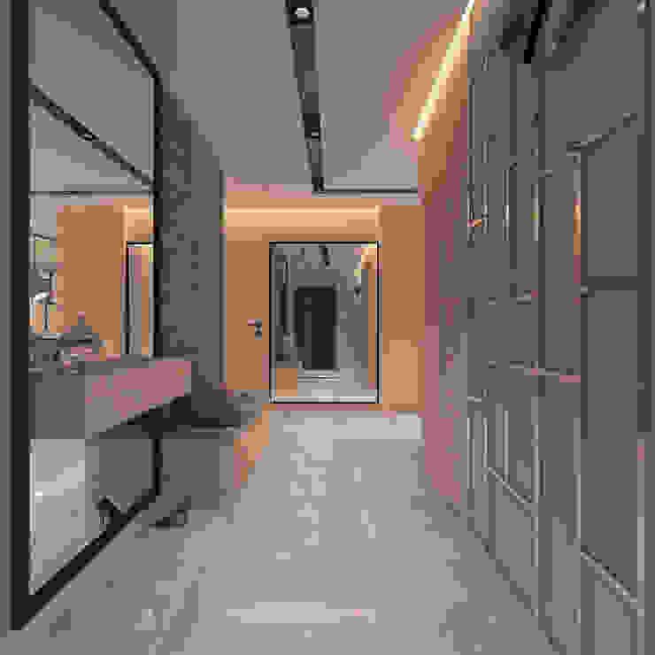 Modern corridor, hallway & stairs by living box Modern