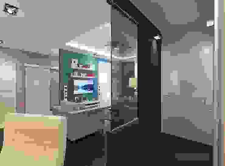 Дизайн-проект трехкомнатной квартиры 80 кв м в панельном доме Коридор, прихожая и лестница в модерн стиле от Студия интерьера Дениса Серова Модерн