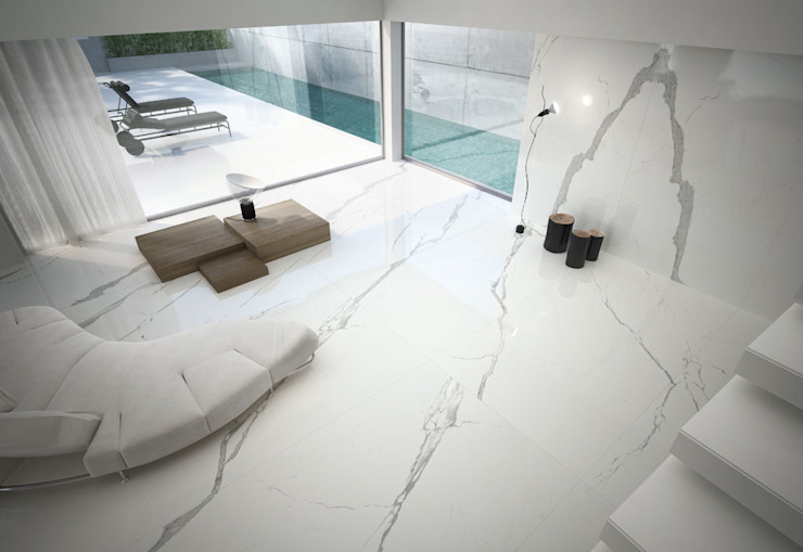 Maxfine Extra White Modern walls & floors by Tile Supply Solutions Ltd Modern Tiles