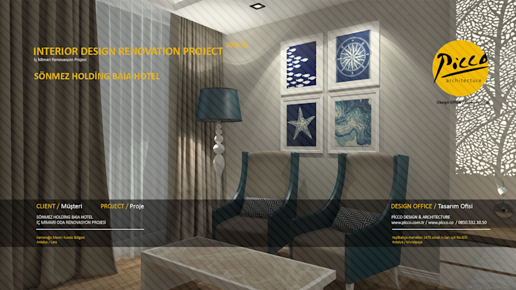 Pıcco Desıgn & Archıtecture Habitaciones de estilo mediterráneo