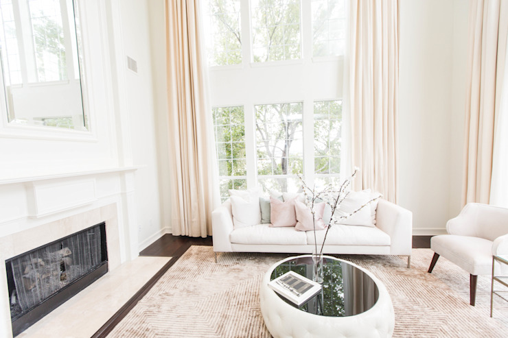 Contemporary Chic Loft Modern Living Room by Urbanology Designs Modern