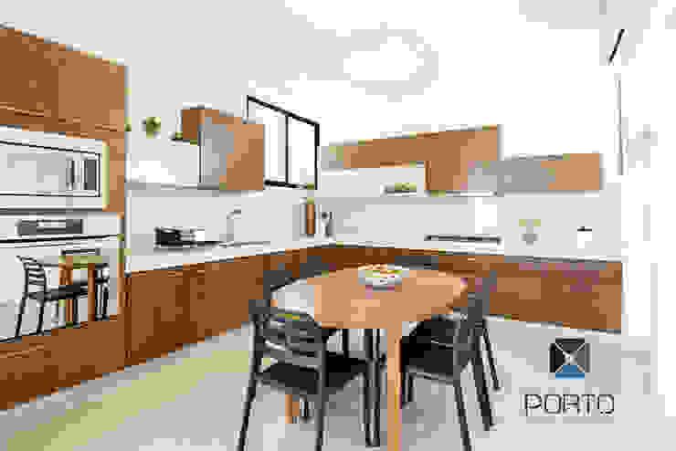 Cuisine originale par PORTO Arquitectura + Diseño de Interiores Éclectique
