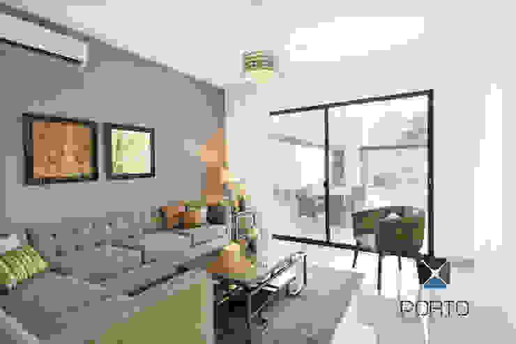 Salon original par PORTO Arquitectura + Diseño de Interiores Éclectique