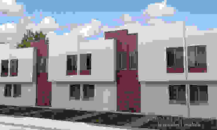 Vivienda de Interes Social... Casas de estilo minimalista de Perspectiva Arquitectos México Minimalista Ladrillos