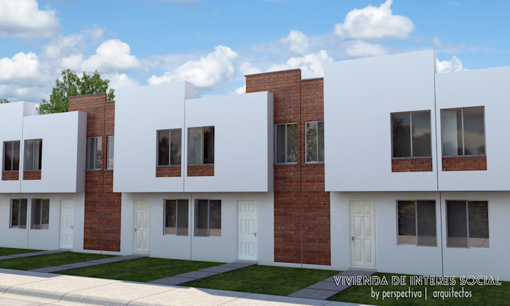 Minimalist house by Perspectiva Arquitectos México Minimalist Bricks