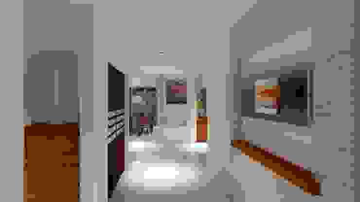 CouturierStudio Corredores, halls e escadas minimalistas