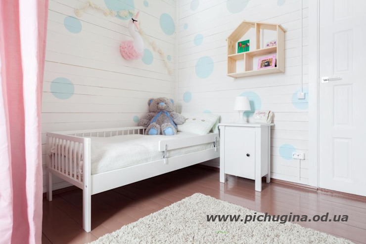 Kamar Bayi/Anak Gaya Eklektik Oleh Tatyana Pichugina Design Eklektik Kayu Wood effect