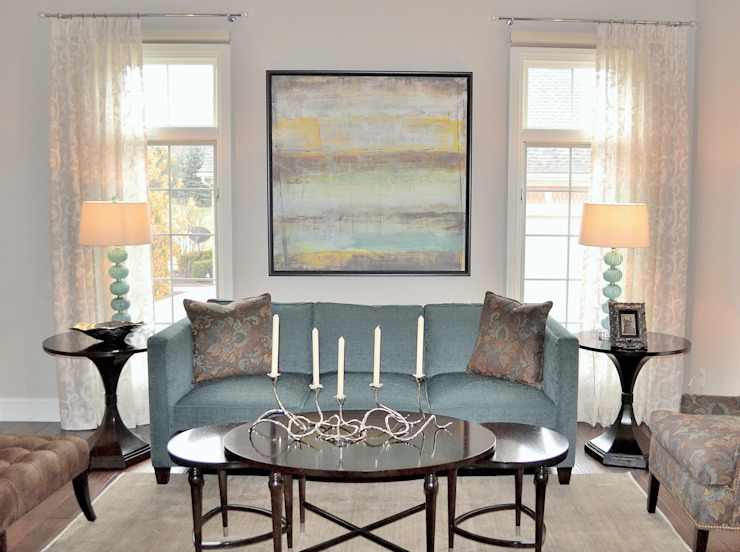 Eclectic transitional new home by Foran Interior Design Eclectic