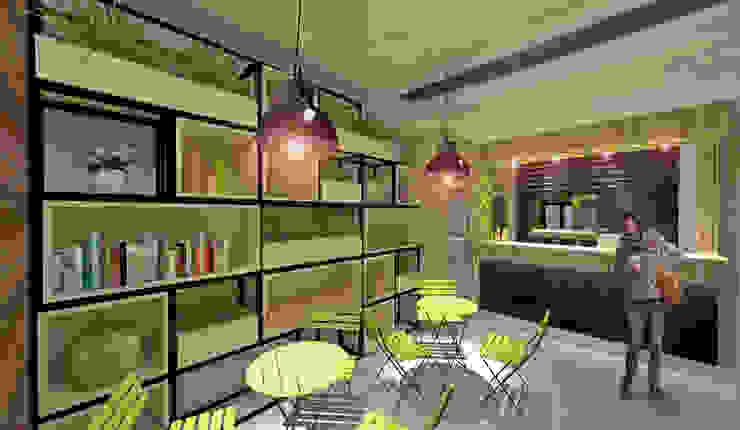 Diseño de interiores Gastronomía de estilo moderno de MOBAH Arquitectura Moderno