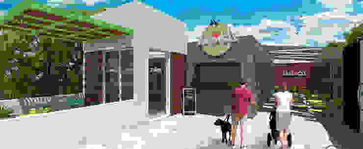 Nueva fachada propuesta Gastronomía de estilo moderno de MOBAH Arquitectura Moderno
