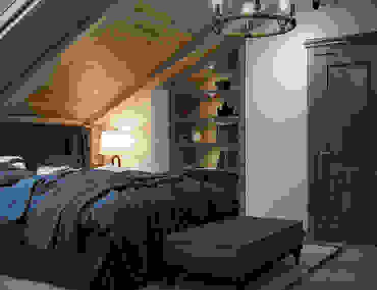 Schlafzimmer im Landhausstil von Студия интерьера Дениса Серова Landhaus