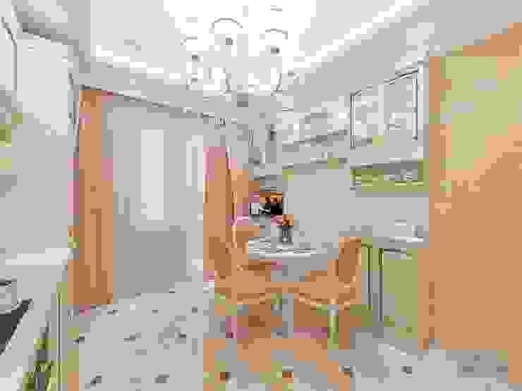 Дизайн проект однокомнатной квартиры 45 кв м Кухня в классическом стиле от Студия интерьера Дениса Серова Классический