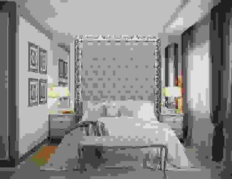 Дизайн-проект четырехкомнатной квартиры 140 кв. м в современном стиле Спальня в классическом стиле от Студия интерьера Дениса Серова Классический