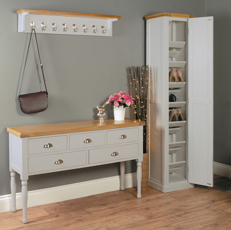 Tall Shoe Cabinet from our Chadwick Grey Range de Big Blu Furniture Moderno Madera Acabado en madera