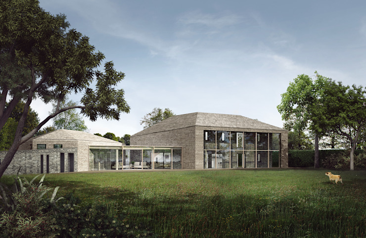Paragraph 55 Zero Energy Home Warwickshire Maisons modernes par guy taylor associates Moderne Bois Effet bois