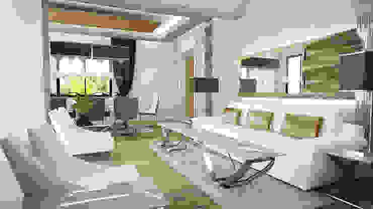 Günçe Evi Modern Oturma Odası HePe Design interiors Modern
