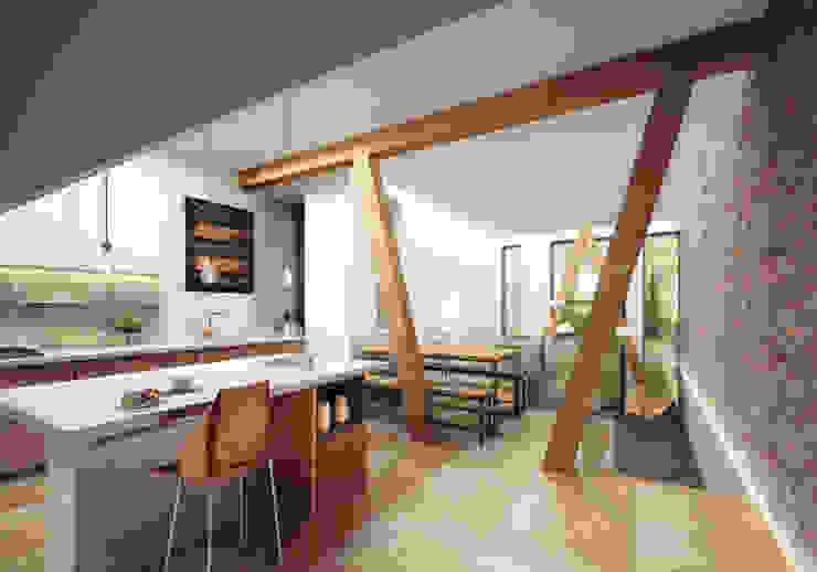 Cocinas de estilo  por guy taylor associates, Moderno Madera Acabado en madera