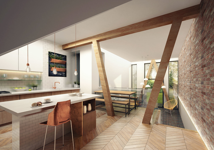 Kitchen 現代廚房設計點子、靈感&圖片 根據 guy taylor associates 現代風 木頭 Wood effect