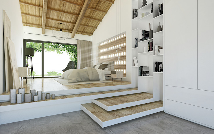 Mediterranean style bedroom by DFG Architetti Associati Mediterranean Wood Wood effect