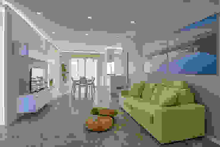 Salas modernas de DFG Architetti Associati Moderno Concreto
