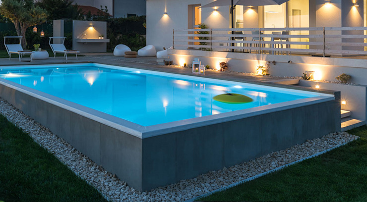 Modern pool by DFG Architetti Associati Modern