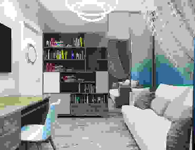 ДизайнМастер Mediterranean style bedroom Blue