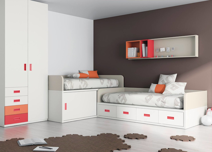 DORMITORIO JUVENIL de Muebles Soliño Moderno