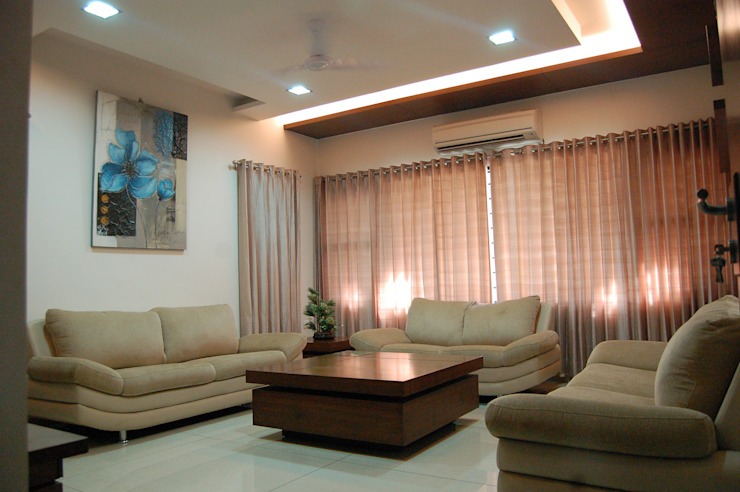 Residence Modern living room by AM Associates Modern Wood Wood effect