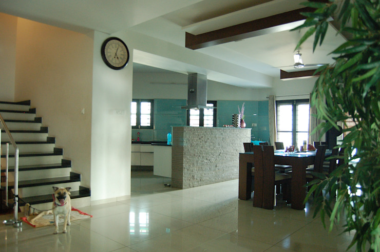 Residence Modern dining room by AM Associates Modern Glass
